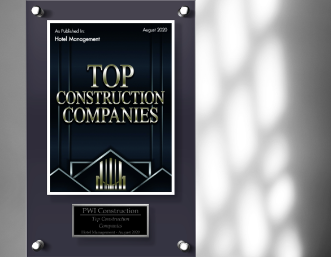 PWI Construction named a Top Construction Company by Hotel Management