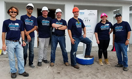 PWI Construction team community outreach group photo