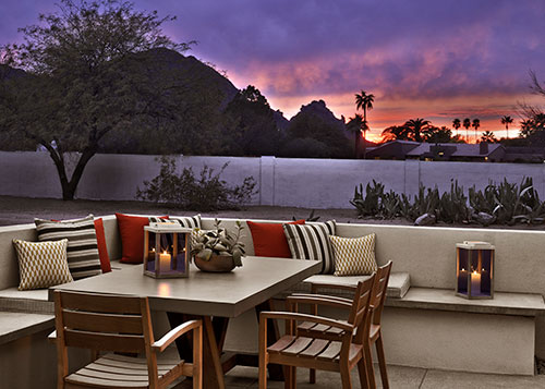 Andaz Scottsdale Patio at Dusk