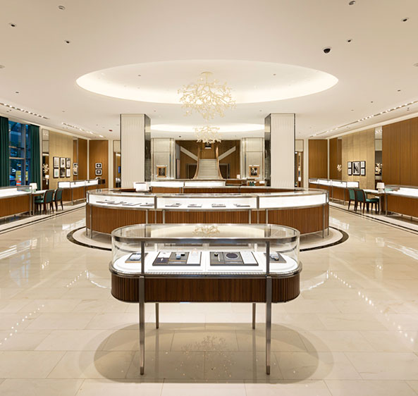 A look inside a Tiffany & Co. store built by PWI Construction