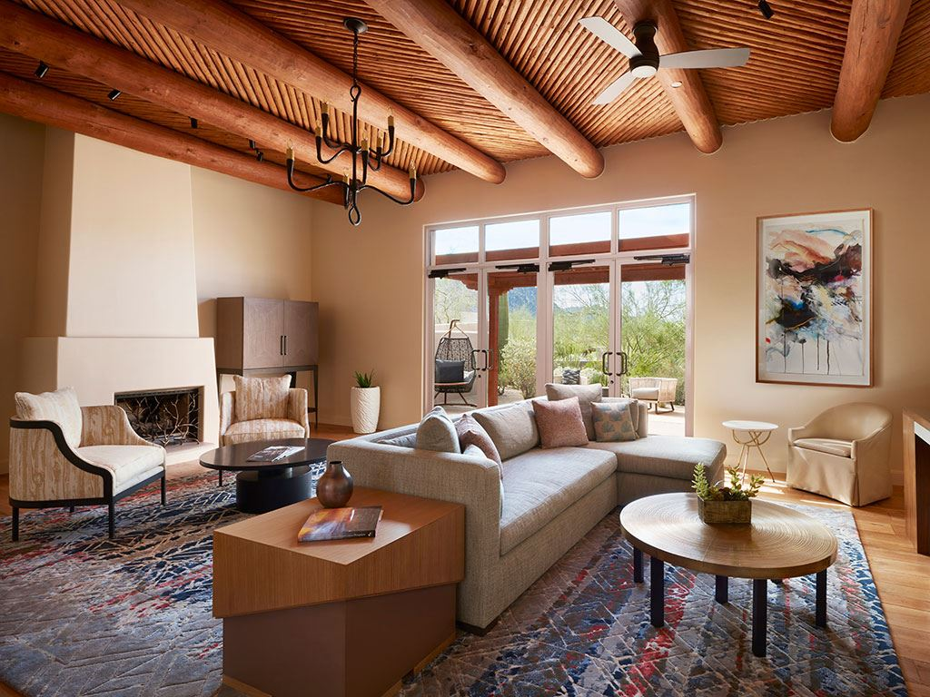 A living room at the Four Seasons Scottsdale Resort