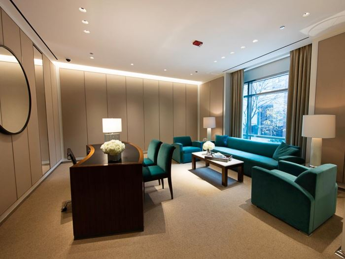 An office inside a Tiffany & Co. store